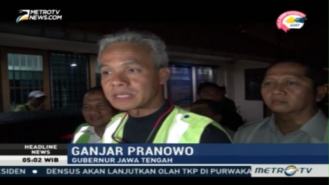 Ganjar Pranowo Tinjau Langsung Evakuasi Pesawat Wings Air