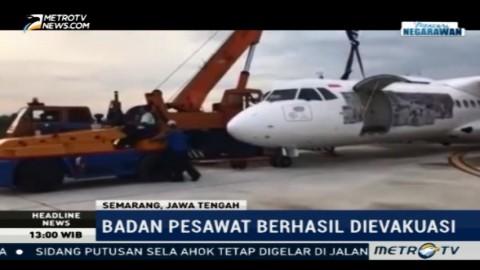 Badan Pesawat Wings Air yang Tergelincir Berhasil Dievakuasi