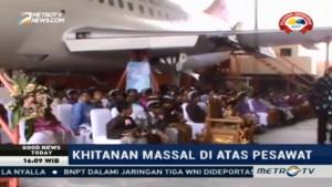 Unik, Khitanan Massal di Yogyakarta Dilakukan di Pesawat