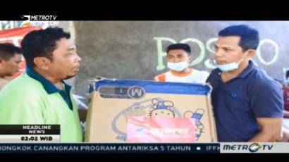 Media Group Salurkan Bantuan untuk Korban Banjir di Bima