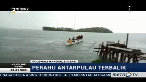 Perahu Terbalik di Perairan Polewali Mandar, 8 Penumpang Selamat