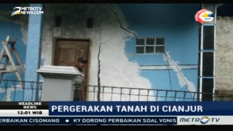 Tanah Bergeser, 85 Rumah di Cianjur Rusak Berat