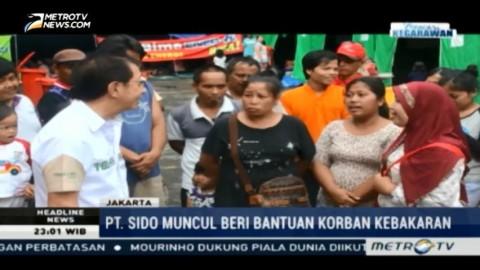 PT Sido Muncul Berikan Bantuan untuk Korban Kebakaran di Pinangsia