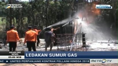 Sumur Gas Ilegal di Musi Banyuasin Masih Keluarkan Semburan Api