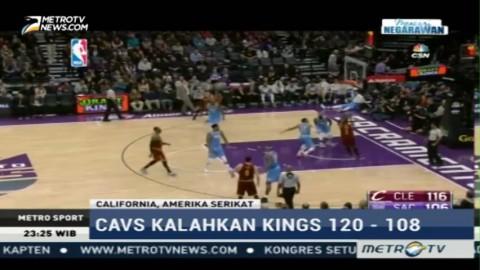 Cleveland Cavaliers Kalahkan Sacramento Kings 120-108