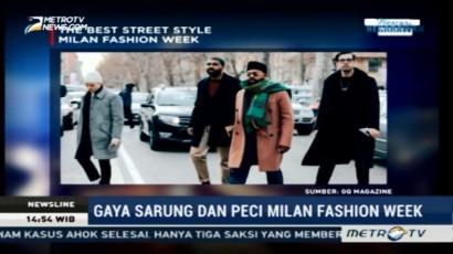 Busana Sarung dan Peci Dinobatkan Jadi Gaya Terbaik Milan Fashion Week