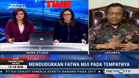 Mahfud MD: Fatwa MUI Bukan Hukum yang Harus Ditegakkan