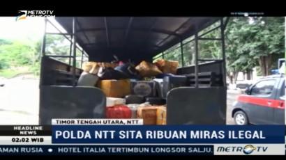 Polda NTT Sita Ribuan Liter Miras Ilegal