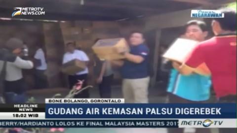 BPOM Gerebek Gudang Air Kemasan Palsu di Gorontalo