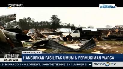Tornado Tewaskan Belasan Orang di Georgia