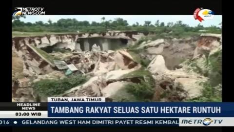 Lokasi Penambangan Batu Kumbung di Tuban Runtuh