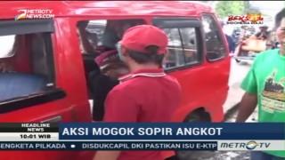 Sopir Angkot di Makassar Lakukan Aksi Mogok Massal