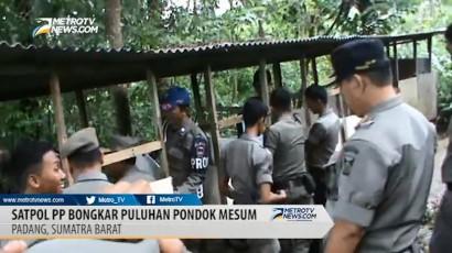 Satpol PP Kota Padang Bongkar Puluhan Pondok Mesum