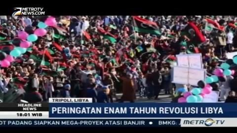 Ribuan Warga Peringati Enam Tahun Revolusi Libya