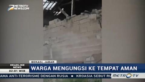 Detik-detik Ambruknya Rumah Warga akibat Pergeseran Tanah