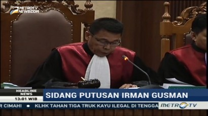Irman Gusman Divonis 4,5 Tahun Penjara