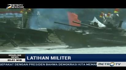 TNI AL Melakukan Latihan Militer Rutin di Pantai Caligi