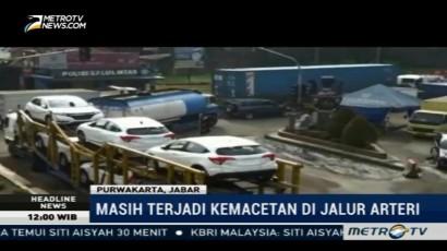 Jalur Arteri Masih Macet Meski Bus Bisa Lewati Jembatan Cisomang
