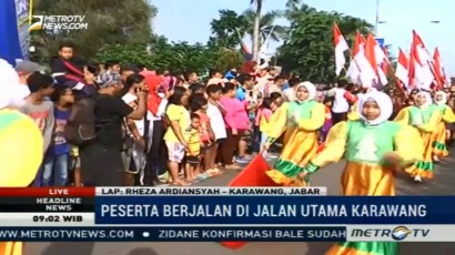 Karnaval Budaya di Karawang Kampanyekan Kebhinekaan Indonesia