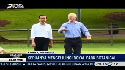 PM Australia Jalan Pagi Bersama Jokowi