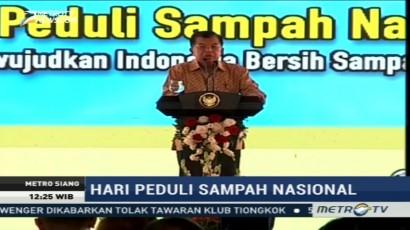 JK Hadiri Peringatan Hari Peduli Sampah Nasional di Surabaya