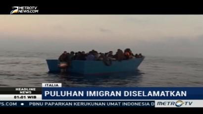 Puluhan Imigran Libya Diselamatkan Italia