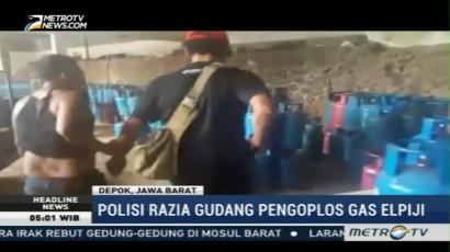 Polisi Gerebek Gudang Pengoplos Gas Elpiji