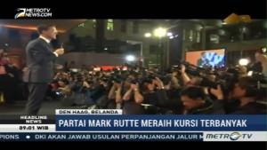 Partai PM Rutte Raih Kursi Parlemen Terbanyak