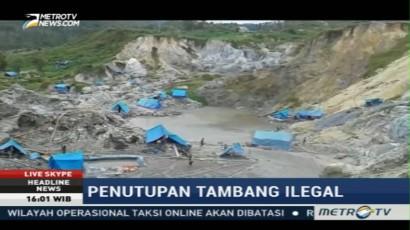 Petugas Gabungan Tutup Tambang Emas Ilegal Gunung Botak
