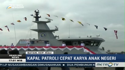 Kepala Staf AL Resmikan Dua Kapal Patroli Buatan Anak Negeri