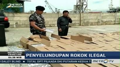 TNI AL Tangkap Kapal Berisi 10 Ribu Slop Rokok Ilegal