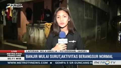 Banjir di Petogogan Melayu Mulai Surut