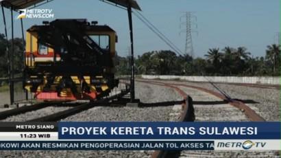 Proyek Kereta Trans Sulawesi Terus Dipercepat