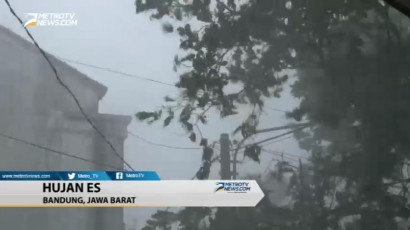 Hujan Es Terjang Bandung