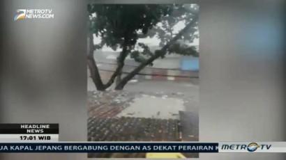 Hujan Es Terjang Beberapa Lokasi di Bandung