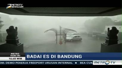 Hujan Es Kembali Terjang Bandung