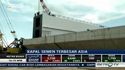 Indonesia Berhasil Produksi Kapal Semen Terbesar di Asia