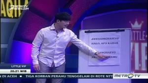 Serunya Cak Lontong Belajar Bahasa Korea Bareng Lee Jeong Hoon