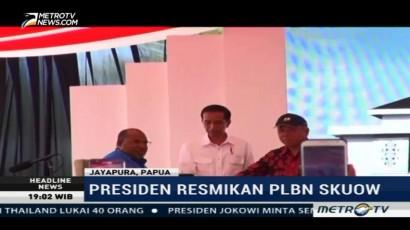 Jokowi Resmikan PLBN Skouw Jayapura