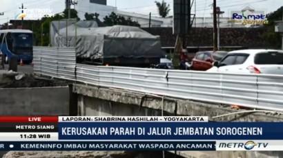 Perbaikan Jembatan Sorogenen Ditargetkan Selesai Akhir Mei