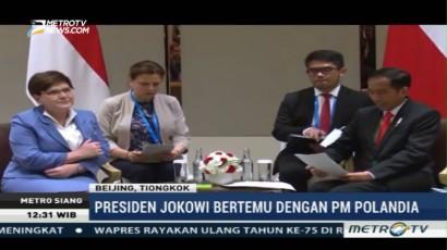 Jokowi Gelar Pertemuan Bilateral dengan PM Polandia