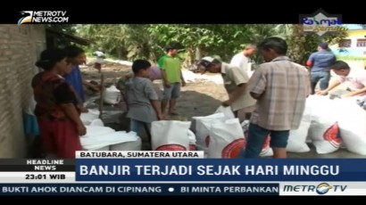 Warga Batu Bara Gotong Royong Perbaiki Tanggul Jebol
