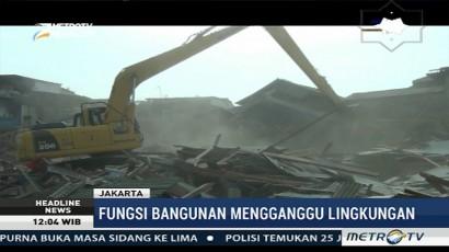Pemprov DKI Gusur Enam Bangunan Liar di Pulo Gadung