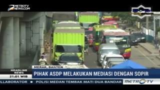 Aksi Protes Sopir Truk Sebabkan Kemacetan di Pelabuhan Merak