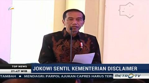 Presiden Sentil Kementerian dan Lembaga Penerima Disclaimer