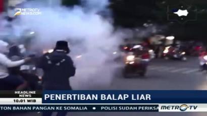 Bubarkan Balap Liar, Polisi Tembakkan Gas Air Mata di Makassar