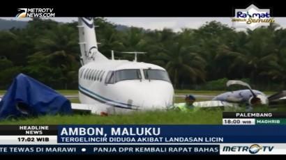 Pesawat Milik Kemenhub Tergelincir di Ambon