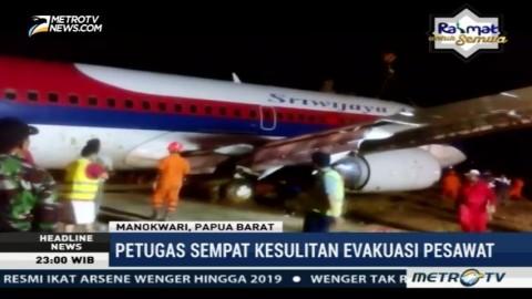 Pesawat Sriwijaya Air yang Tergelincir di Manokwari Berhasil Dievakuasi
