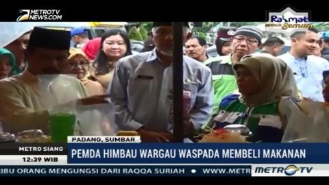Petugas Gabungan Razia Makanan Berbahaya di Salatiga dan Padang