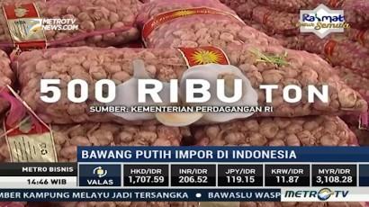 25 Ribu Ton Bawang Putih Impor akan Masuk Indonesia